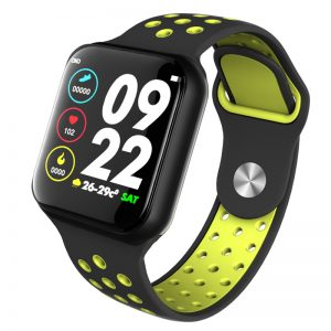 Smart Bluetooth Bracelet Watch Colorful Screen Silicone Strap Full Touch Screen Heart Rate Blood Pressure Health Monitoring dark green