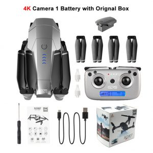 SG907 GPS Drone with 4K 1080P HD Dual Camera 5G Wifi RC Quadcopter Optical Flow Positioning Foldable Mini Drone VS E520S E58 Color box 4K one-battery