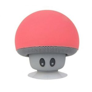 Portable Wireless Bluetooth Mini Cute Mushroom Shaped Audio Speaker Phone Bracket red