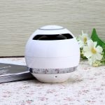 Colorful LED Ball Shaped Card Bluetooth Speaker Subwoofer Call Portable Outdoor Mini Speaker white 1