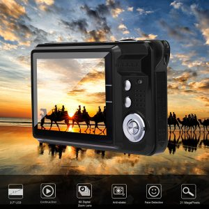 2.7HD Screen Digital Camera 21MP Anti-Shake Face Detection Camcorder  black