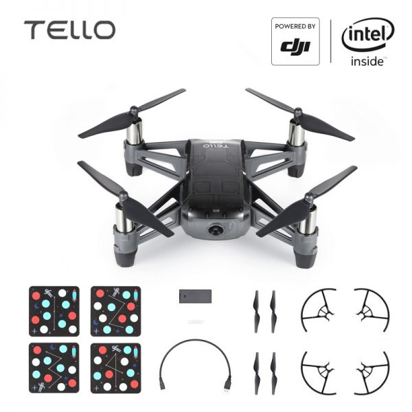 DJI Tello EDU Boost Combo Mini Drone Perform Flying Stunts Shoot Video with EZ Shots Toy Plane 2 battery