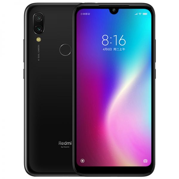 Xiaomi Redmi 7 4+64G Snapdragon 632 Octa Core 12MP Dual AI Camera Mobile Phone 4000mAh Large Battery Black