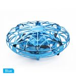 Mini Hand Operated Induction Drones UFO Quadrotor blue 1