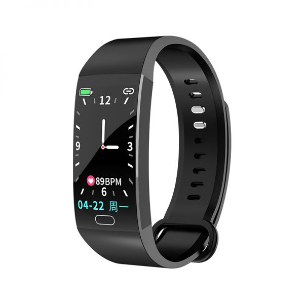 RD11 Smart Bracelet Band Measuring Pressure Clock Cardio Fitness Watch Heart Rate Activity Tracker Sports Smartwatch black