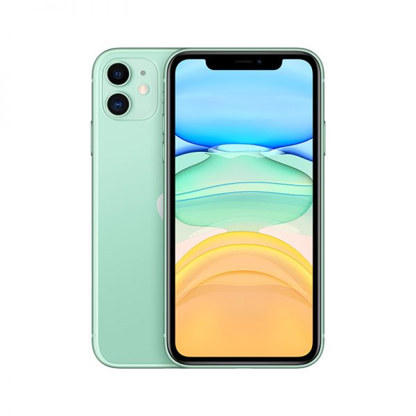 Apple iPhone 11 Dual 12MP Camera A13 Chip Smartphone LTE 4G Slow Selfie + European Gauge Adapter green 64GB