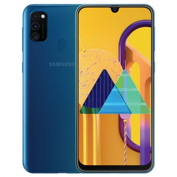 Samsung Galaxy M30S 6.4inch Screen 6GB RAM+128GB ROM 6000mAh Battery Dual SIM Cards 48MP Camera 4G Smartphone Blue_6G+128G