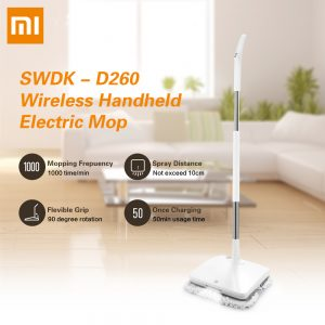 Xiaomi Mijia SWDK D260 Electric Mop LED Wireless Floor Mopping Household Cleaning Machine white