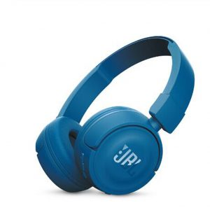 JBL T450BT Wireless Bluetooth Headphones On-Ear Headset with Mic Noise Canceling Call & Music Controls  blue