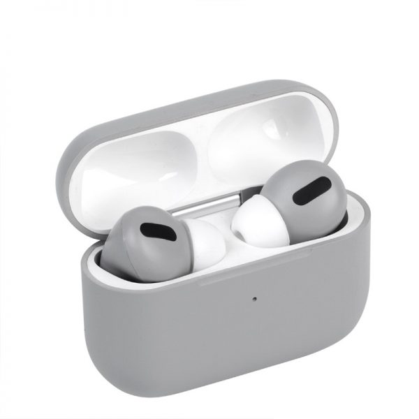 Bluetooth Earphones Fresh Color Smart Wireless Headset with 450mAh Charging Base Touch Control Stereo Microphone  Gray