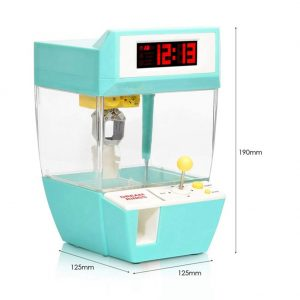 Mini Candy Grabber Catcher Crane Lazy Person Alarm Clock Machine Arcade Sanwa Practical Board Games green