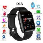 D13 Bluetooth Heart Rate Blood Pressure Smart Watch Fitness Tracker Bracelet black 1