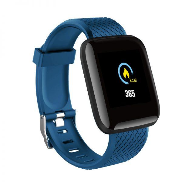 D13 Bluetooth Heart Rate Blood Pressure Smart Watch Fitness Tracker Bracelet blue