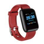 D13 Bluetooth Heart Rate Blood Pressure Smart Watch Fitness Tracker Bracelet red