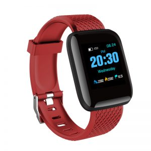 D13 Bluetooth Heart Rate Blood Pressure Smart Watch Fitness Tracker Bracelet red