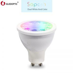 ZIGBEE 5W RGB+CCT Spotlight LED Bulb GU10 Phone APP Control Connection for HUE RGB+CCT
