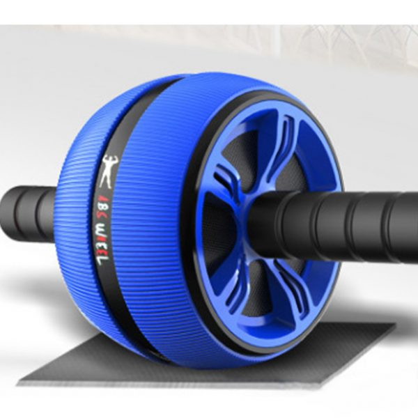 Men Women Abdominal Muscles Fitness Equipment Home Use Abdomen Health Training Abdomen Roller Exercise Wheel blue