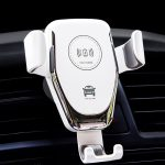 10W QI Wireless Fast Charger Car Mount Holder Stand for iPhoneX XS Samsung S9 white 1