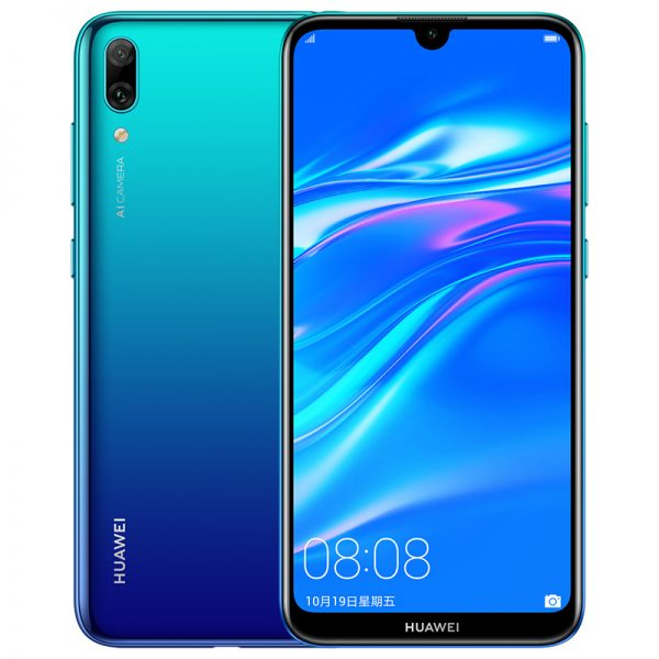 "Global Rom Huawei Enjoy 9 Mobile Phone 6.26"""" 3+32GB Huawei Y7 Pro 2019 Smartphone 4000mAh Aurora blue"