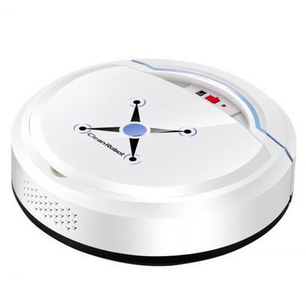 Home Use Cleaning Robot Intelligent Rechargeable Automatic Floor Mopping Robot Vacuum Cleaner White_23.8 * 8cm