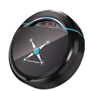 Home Use Cleaning Robot Intelligent Rechargeable Automatic Floor Mopping Robot Vacuum Cleaner Black_23.8 * 8cm