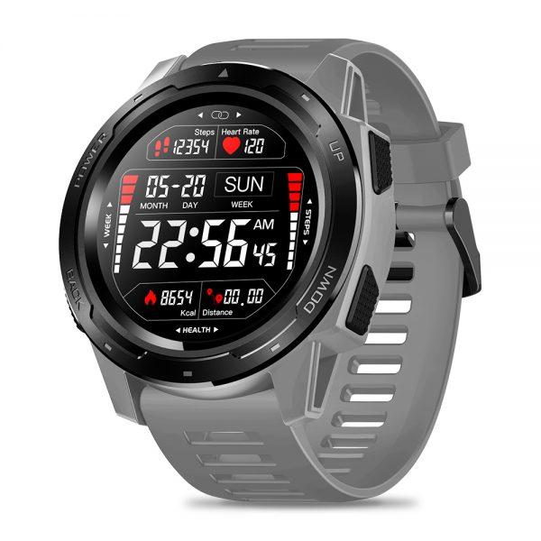 Zeblaze VIBE 5 1.3 Inch Round Screen Heart Rate Sleep Monitor Smart Watch Sport Bracelet Fitness Tracker gray