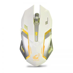 LED Wireless Optical Gaming Mouse Rechargeable X7 High Resolution Mouse white