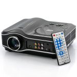 2100 Lumens DVD Projector with DVD Player Video Game Projector Beamer 400:1 Contrast US Plug 1