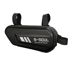 1.5L Cycling Bike Tube Pouch Holder Saddle Bag Bicycle Front Frame Triangle Bag Bicycle Beam Storage Bag black_27 * 11.5 * 7CM