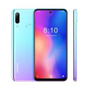 HOMTOM P30 Pro 4GB 64GB 4000mAh 6.41 Inch Android 9.0 Face ID 13MP MT6763 Octa Core 4G FDD-LTE Smartphone blue