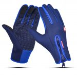 Waterproof Sports Gloves Touch Screen Glove Anti Slip Palm for Driving Cycling Skiing Dark Blue_XL 1