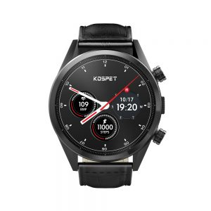 Kospet Hope Smart Watch Phone - 3GB RAM, 32GB ROM, Dual 4G-LTE, IP67 Waterproof, Android7.1.1, 620mAh Battery - Leather Strap