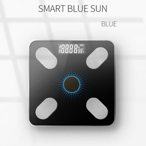 Solar Charging APP Bluetooth Intelligent Electronic Weight Balance Body Fat Scale Support for  Android or IOS Mang solar charging_Blue light