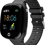 HW11 Smart Watch Kids GPS Bluetooth Pedometer Positioning IP67 Waterproof Watch for Children Safe Smart Wristband Android IOS black 1