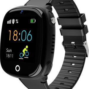HW11 Smart Watch Kids GPS Bluetooth Pedometer Positioning IP67 Waterproof Watch for Children Safe Smart Wristband Android IOS black