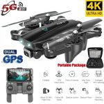 S167 GPS Drone With Camera 5G RC Quadcopter Drone 4K WIFI FPV Foldable Off-Point Flying Gesture 5G 4K 3 battery 1