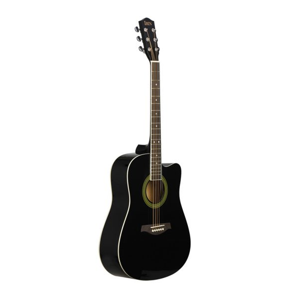 41inch Acoustic Guitar Cutaway Design Fingerboard Guitarra Delicate Basswood Musical Instrument  black_No accessories