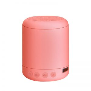Portable Speaker Bluetooth4.2 Mini Wireless Speaker Small Sound Box Built-in 400mA Battery Support 32GB TF Card Hands-free Calling Fresh Bright Color  Pink