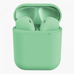 TWS Inpods 12 Macaron Bluetooth Earphone 5.0 Wireless Headphons Sport Earbuds Headset With Mic For All Phone green
