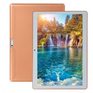 "10.1""""  IPS Display Screen Plastic 3G Android 5.1 Tablet Phone European Plug Gold 1G+16G"