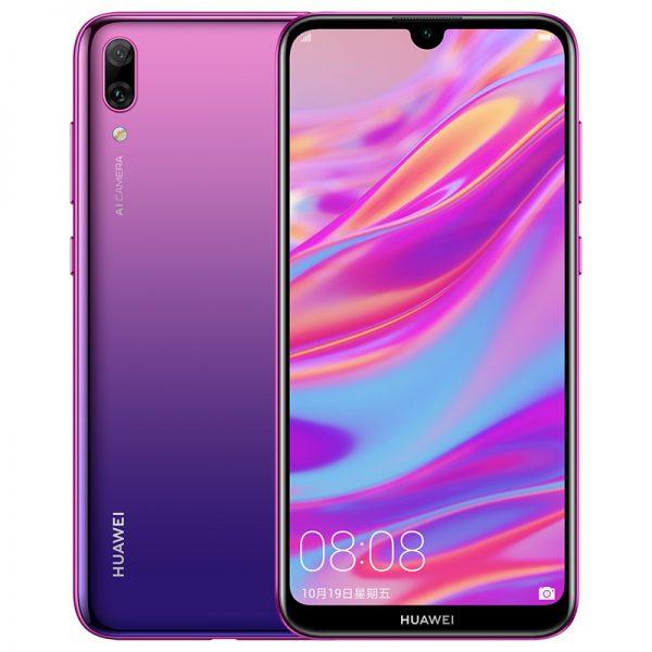"Global Rom Huawei Enjoy 9 Mobile Phone 6.26"""" 3+32GB Huawei Y7 Pro 2019 Smartphone 4000mAh Aurora violet"