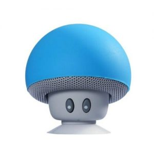 Portable Wireless Bluetooth Mini Cute Mushroom Shaped Audio Speaker Phone Bracket blue