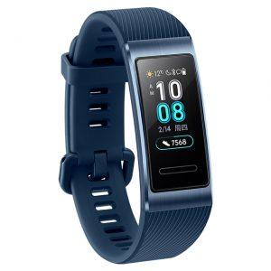 Huawei Band 3 Pro GPS Smart Band Metal Amoled 0.95' Full Color Touchscreen Swim Stroke Heart Rate Sensor Sleep Bracelet blue