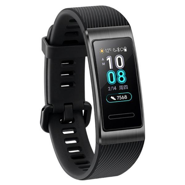 Huawei Band 3 Pro GPS Smart Band Metal Amoled 0.95' Full Color Touchscreen Swim Stroke Heart Rate Sensor Sleep Bracelet black
