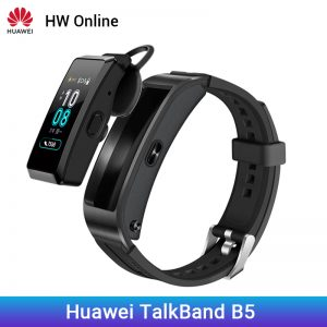 For Huawei TalkBand B5 Talk Band B5 Bluetooth Smart Bracelet Sports Wristbands Touch AMOLED Screen Call Earphone Band black