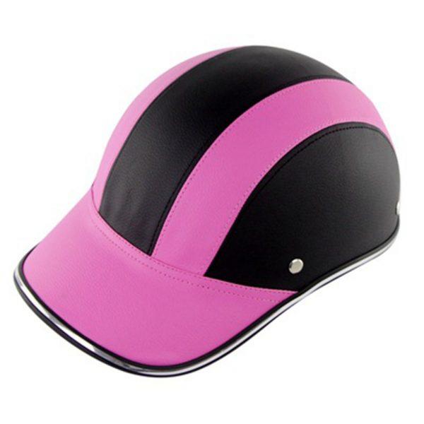 Ultralight Shockproof Breathable Baseball Cap Riding Helmet Motorcycle Road Mountain Bike Electric Car Helmet Black powder_One size