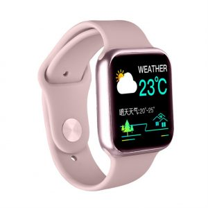 P20 Smart Bracelet Full-Screen 1.3 Inch HD Color Screen Sports Heart Rate Blood Oxygen Monitoring Waterproof Smart Watch Pink